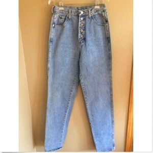 Vintage wrangler high waist button front jeans 28""